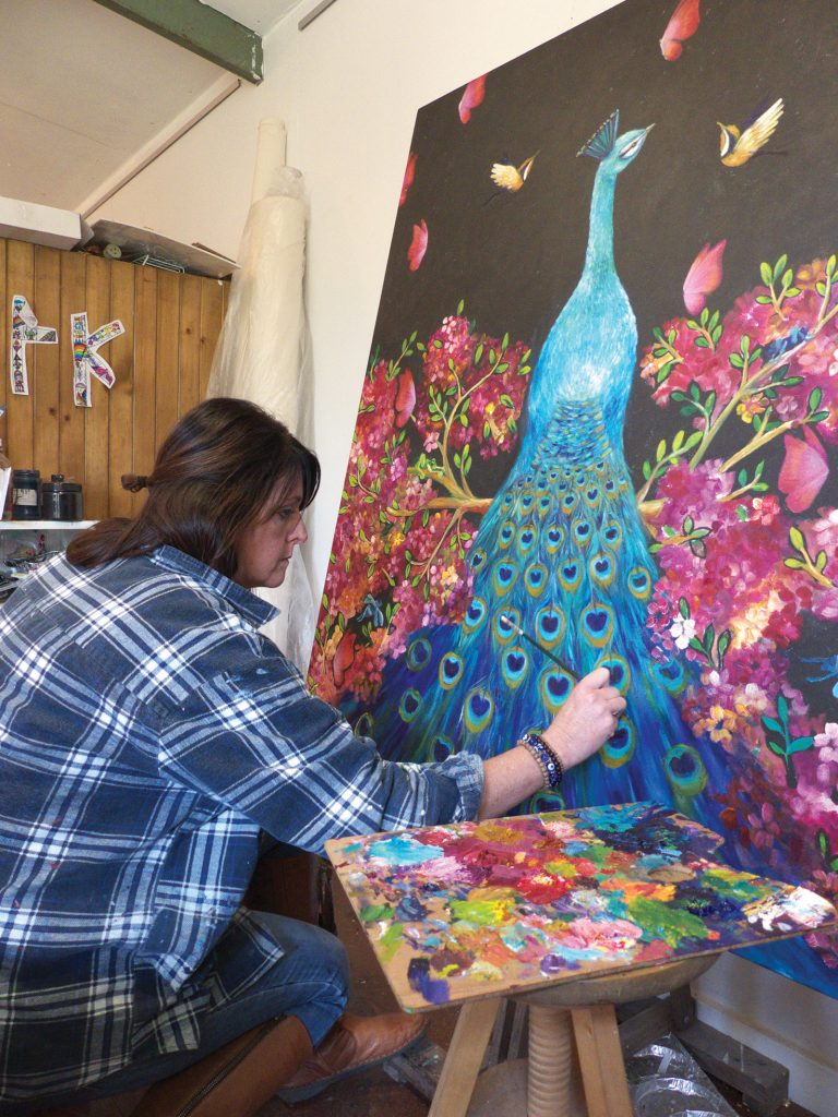 Artwork in Progress 'A Peacock'