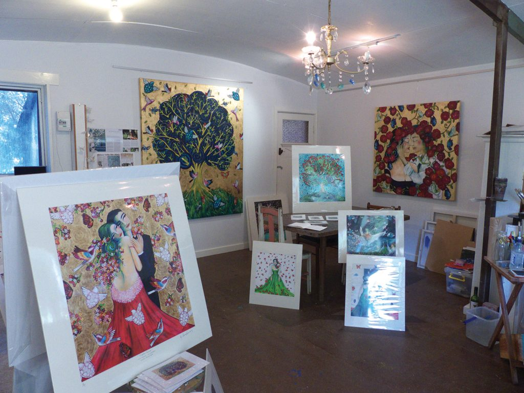 Inside the purpose built studio and gallery